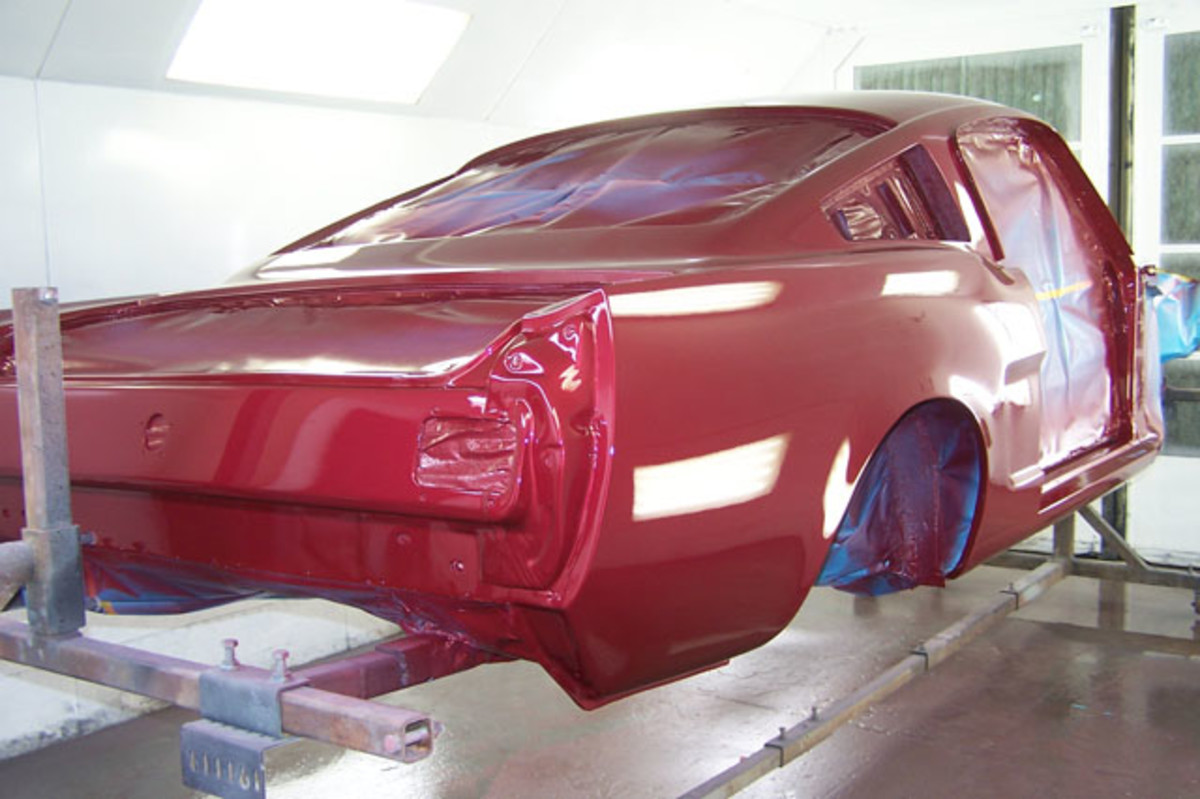 With the clear on the base coat, the paint will finally have the expected shine of a fresh paint job.