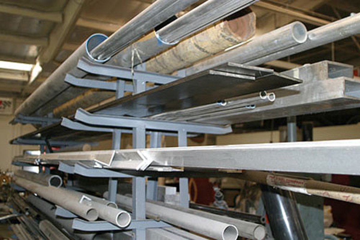 Try to keep the steel and aluminum separated because they can contaminate each other and lead to problems during welding.