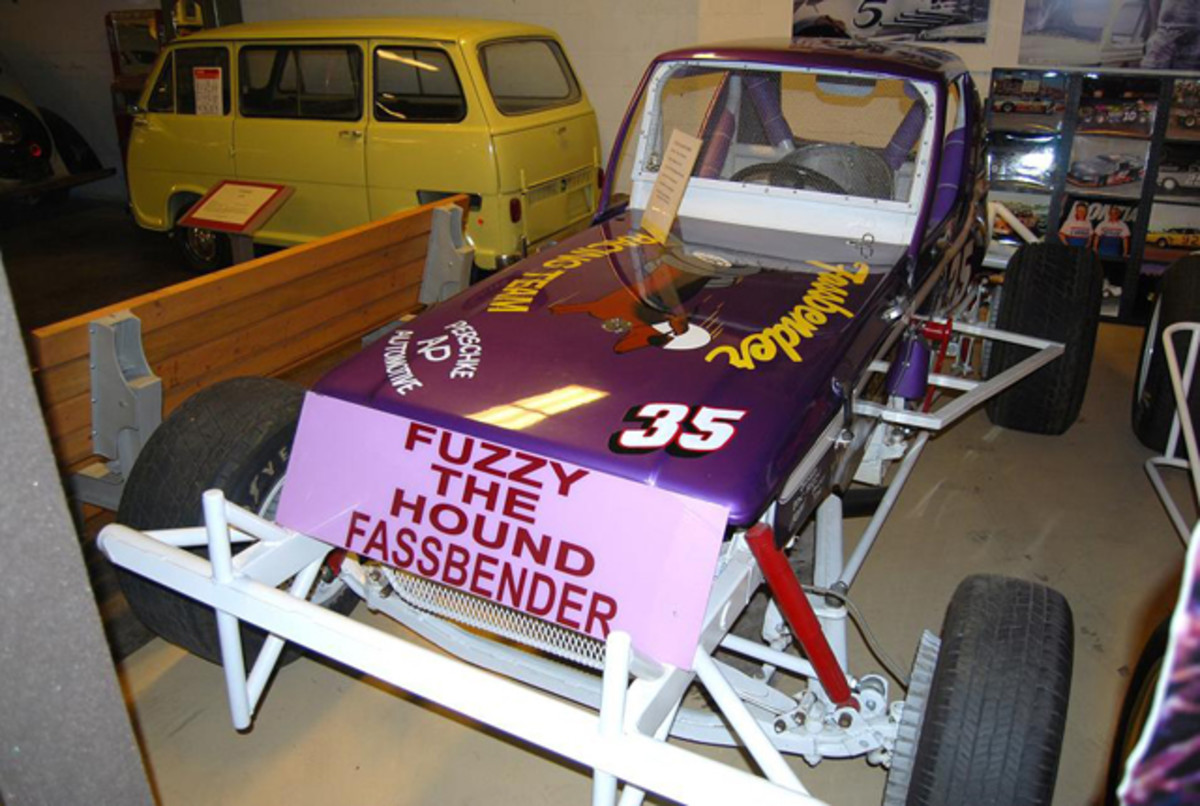 """Fuzzy """"The Hound"""" Fassbender drove No. 35 to many flags."""