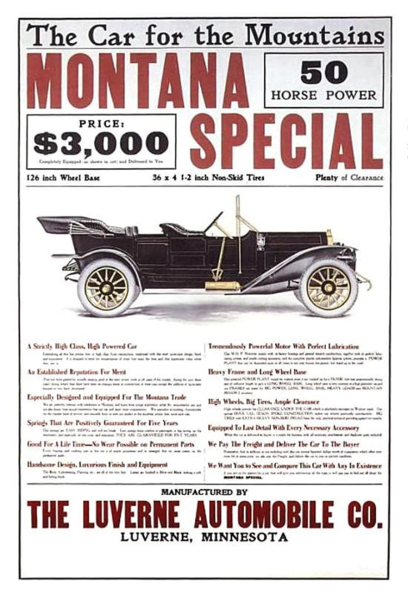 """The 1913 Luverne 50-hp was promoted as the """"Car for the Mountains"""""""