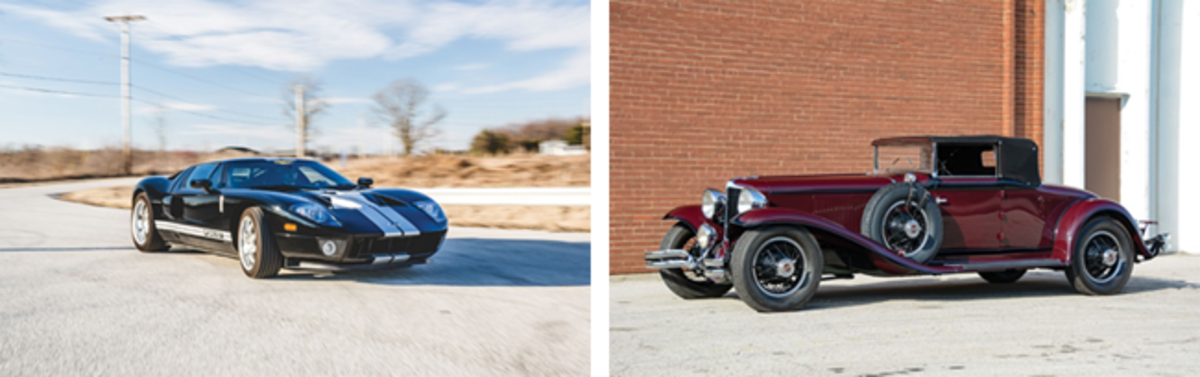 2006 Ford GT (Theodore W. Pieper © 2018 Courtesy of RM Auctions) & 1931 Cord L-29 Cabriolet (Courtesy of RM Auctions)