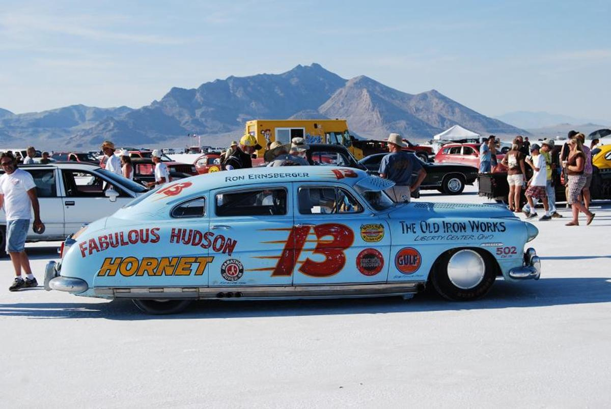 Ron Ernsberger drove his Hudson to the Bonneville Salt Flats for the September 2011 World of Speed (www.saltflats.com) racing there.