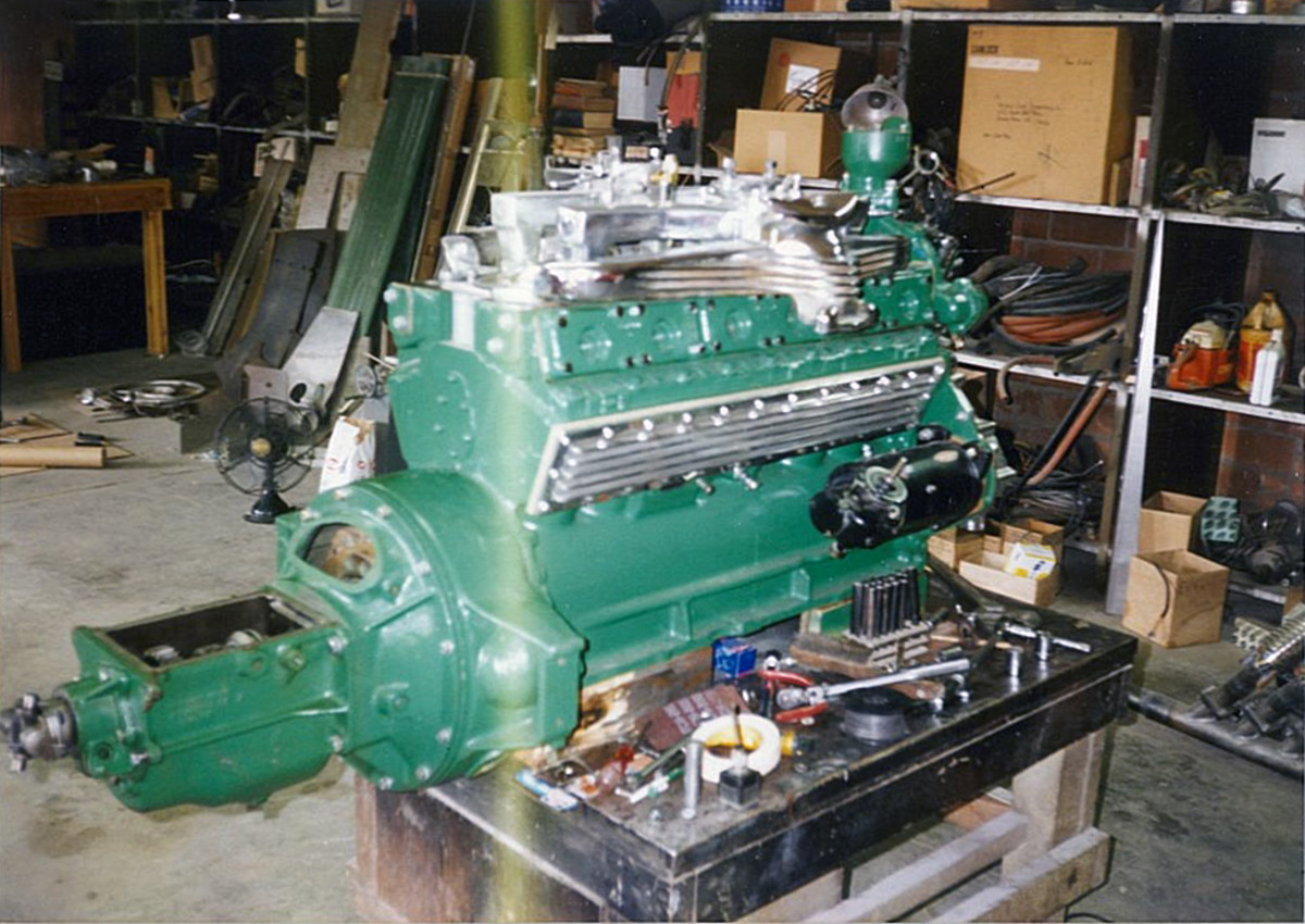 The engine in Glenn Pray's 1978 Duesenberg is an Auburn-based American LaFrance unit.