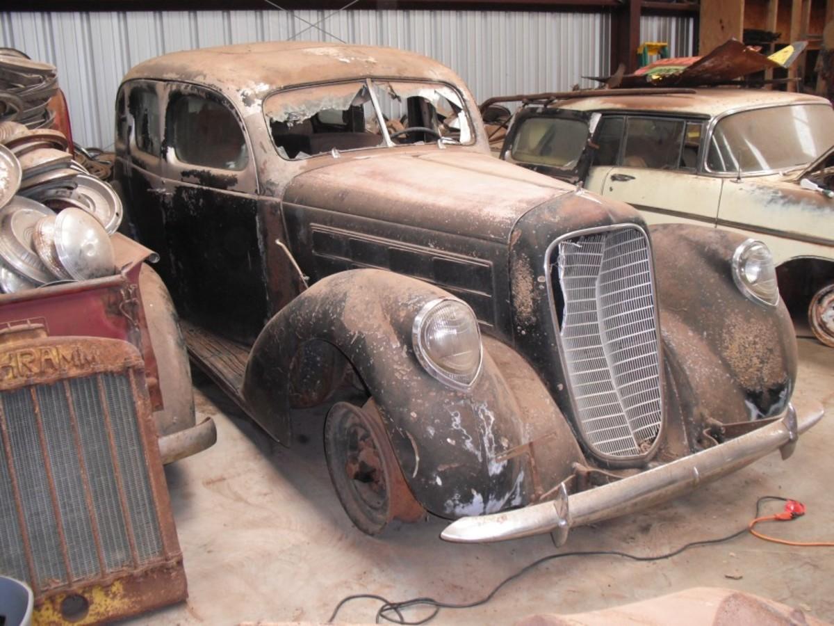 The 1939 Lincoln K sedan with aluminum coachwork.