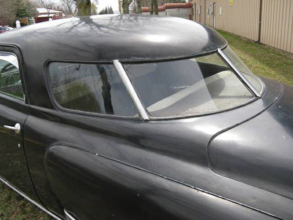 We can't wait to have this car going again. The Starlight Coupe's rear window treatment was unlike anything else available in 1949.