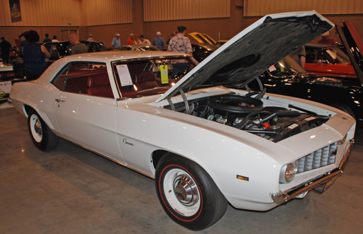 "A certified C.O.P.O. 1969 Camaro, this car had been campaigned as the ""Hoosier Hell."" Fitted with a replacement block, it was called sold in Kissimmee for a bid of $130,000."