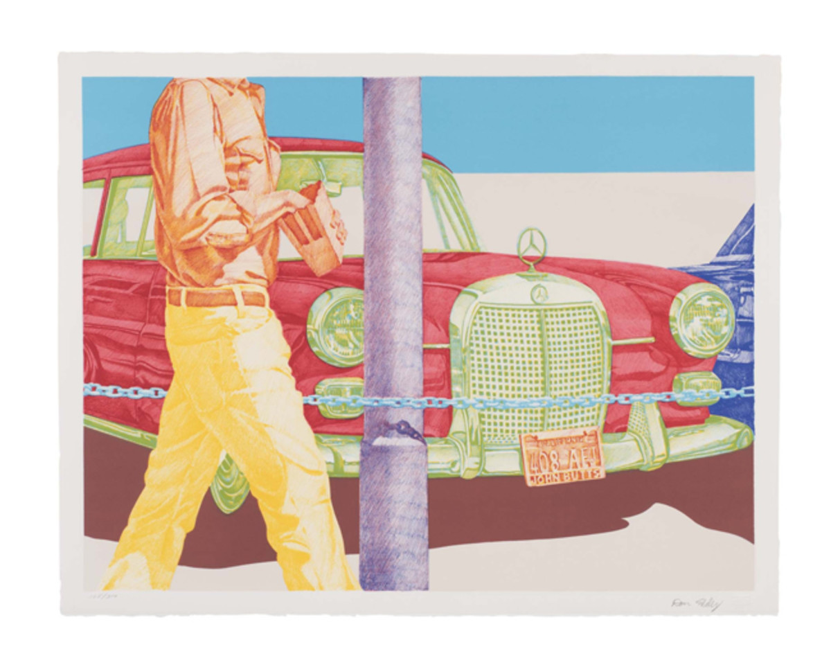 Don Eddy (American, born 1944), Red Mercedes. Color lithograph, 1972. 24 1/8 x 30 11/16 in. (61.3 x 78 cm). Toledo Museum of Art (Toledo, Ohio), Frederick B. and Kate L. Shoemaker Fund, 1974.36. © Don Eddy Image Credit: Christopher Ridgway