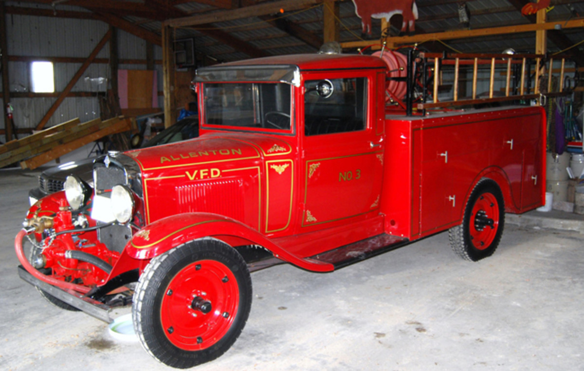 The Allenton, Wis, VFD used this 1931 Chevrolet with a Luverne body.