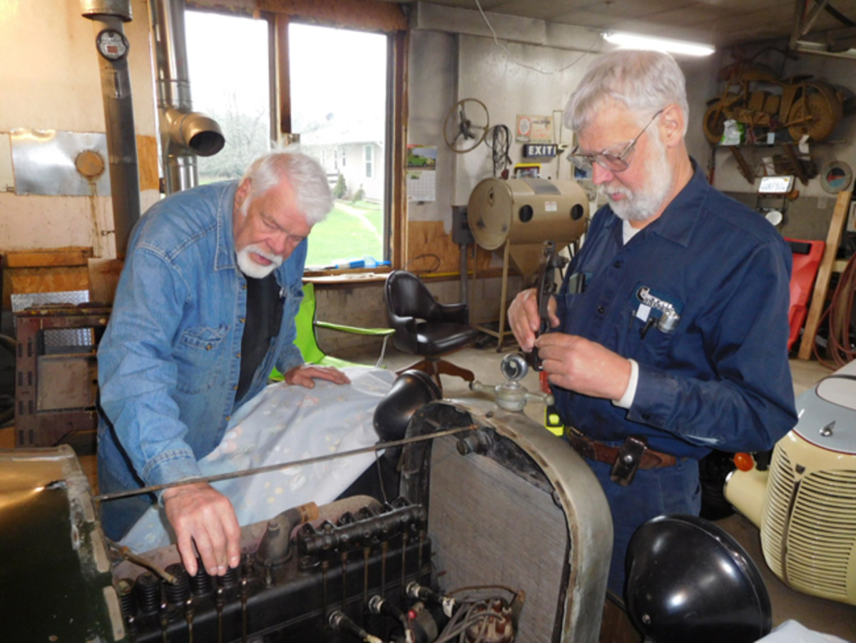 Tim Buttles (left) and Joe Thorn (right) were two of the talented restorers who helped with the project.