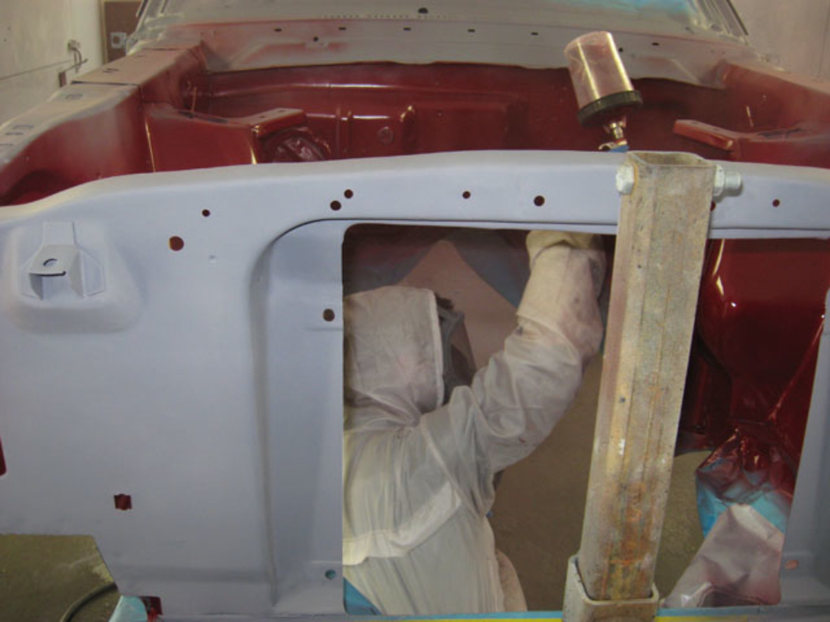 Jams and inner areas are painted before the outer body panels.