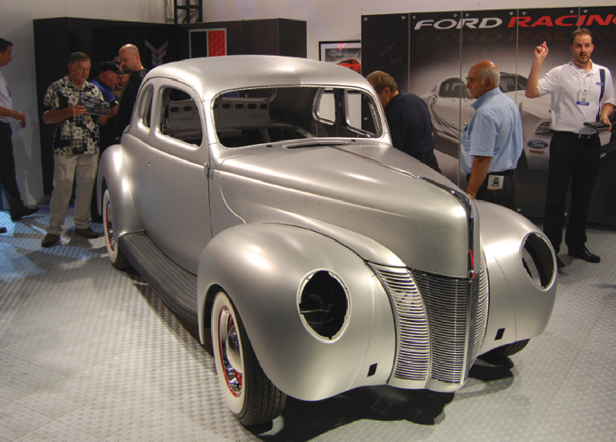 """Everything on this '40 Ford coupe """"in the white"""" is available in reproduction form at www.myfordgarage.com/SEMA."""