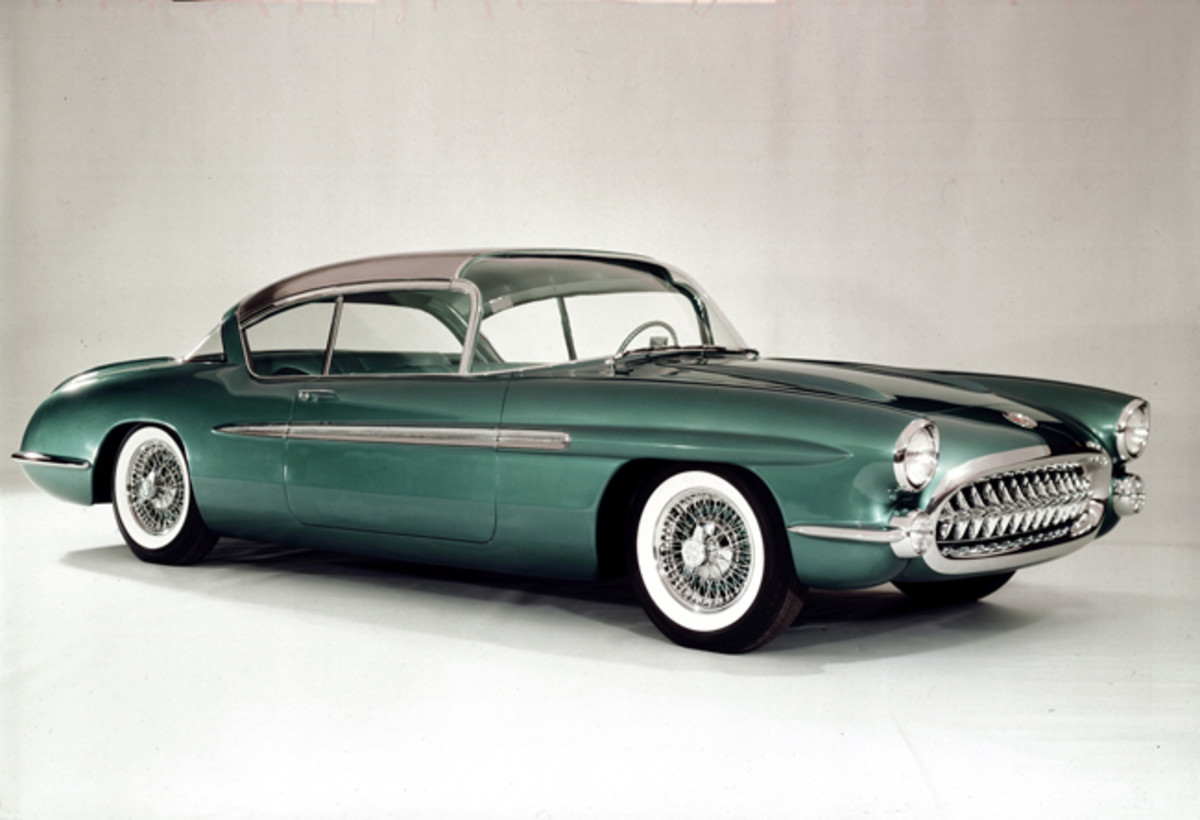 The 1956 Chevrolet Corvette Impala show car exhibited at that year's GM Motorama presented ideas that would be found on the production Impala which debuted two years later.