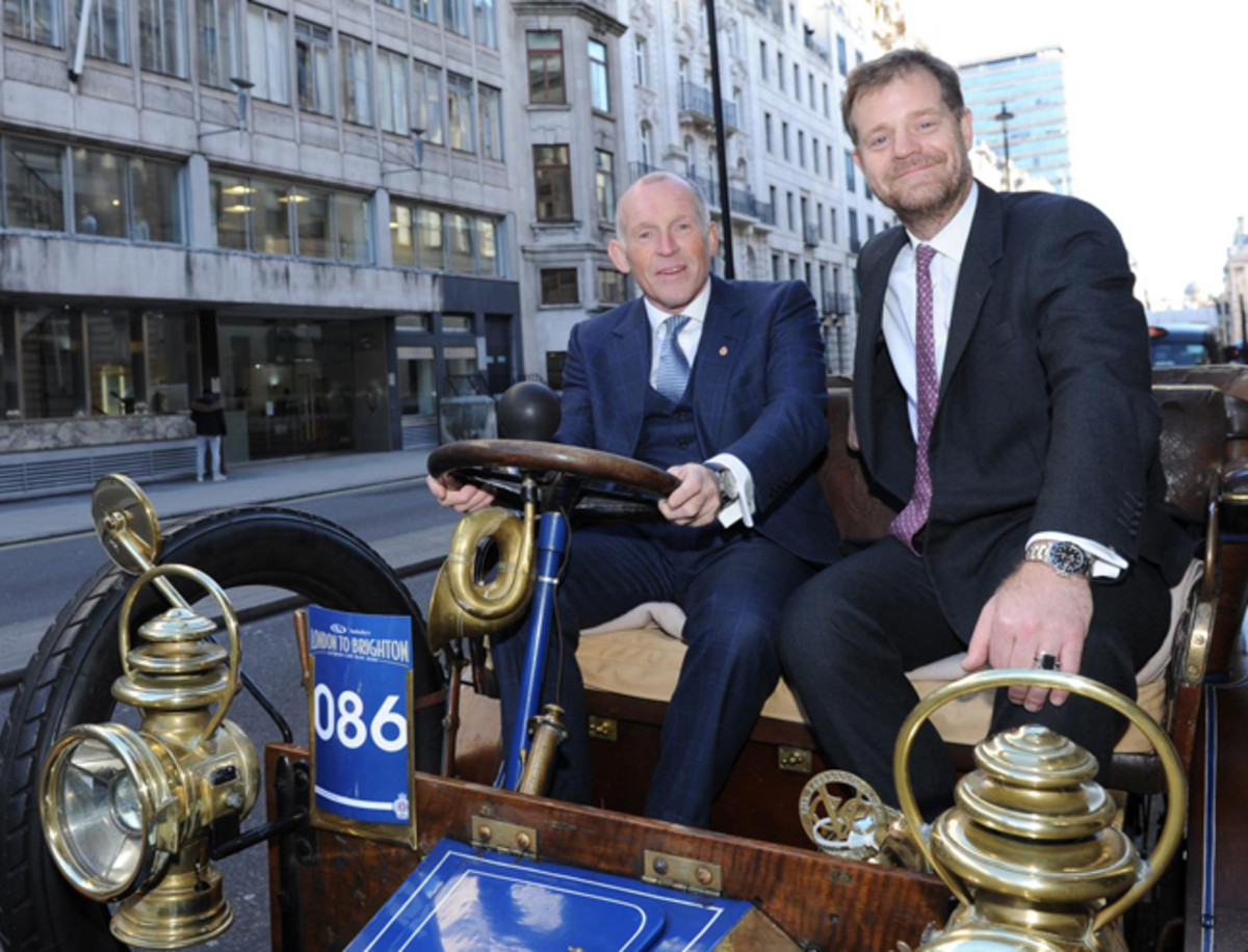 Maarten ten Holder, Head of Europe & Chief Auctioneer, RM Sotheby's (left above) and Ben Cussons, Chairman of the Royal Automobile Club. Photo - RM Sotheby's