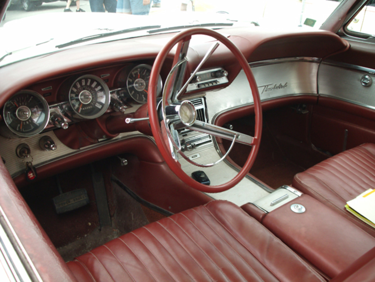 The interior of the '62 Thunderbird is in good original condition. There are a few tears in the seats, but any trim restoration work will have to wait until some medical expenses are dealt with.