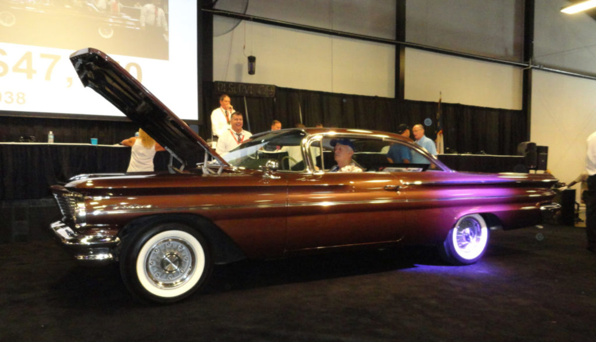 "The ""Don Miller 1960 Pontiac Ventura 389 4-speed was bid to 90k for a NS"