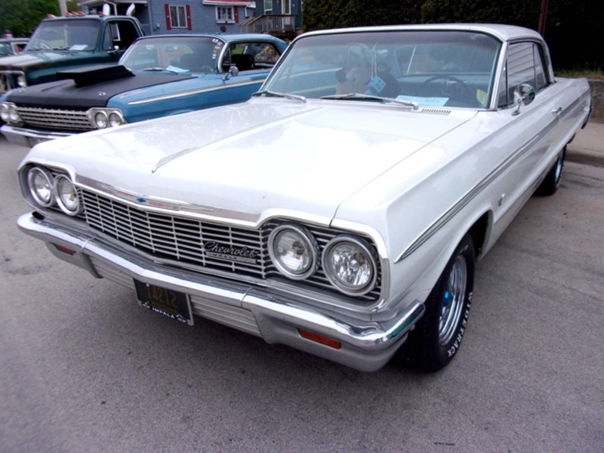 The owner of the Chevy bought several grilles that all had the same dent before he found one that was like new.