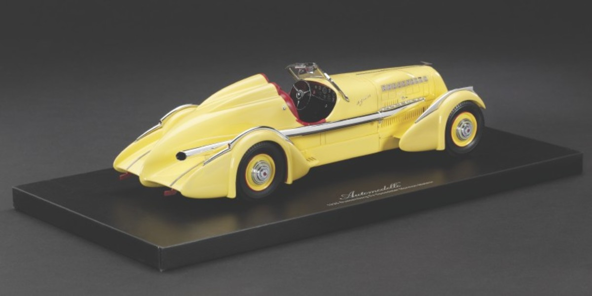 """Automodello's 1:24 die-cast model of Ab Jenkins' Duesenberg Special, a.k.a. """"Mormon Meteor,"""" is a work of art."""