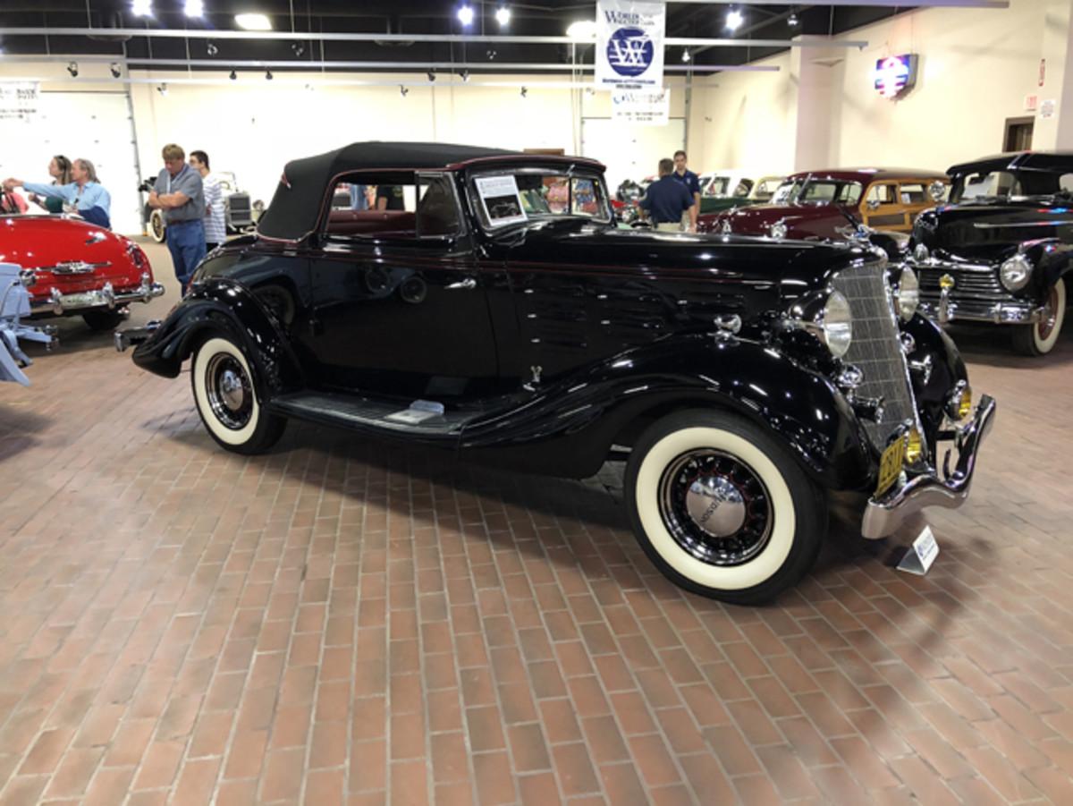 1934 Hudson Series LU 2/4 Passenger Convertible Coupe which brought $156,750. (John Lyons photo)