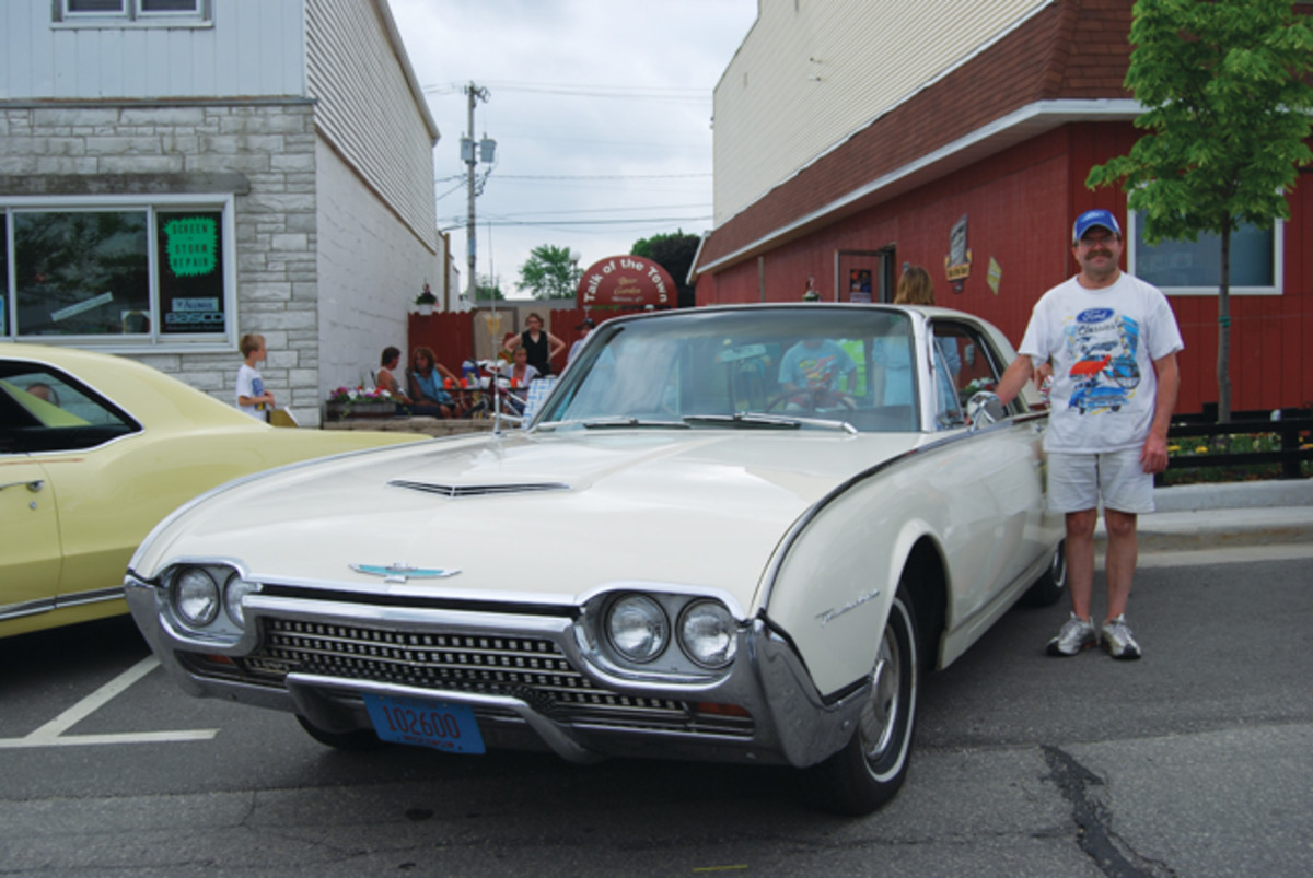 Darrell Hawkins has scraped and saved to make his '62 Thunderbird a splendid collector car.