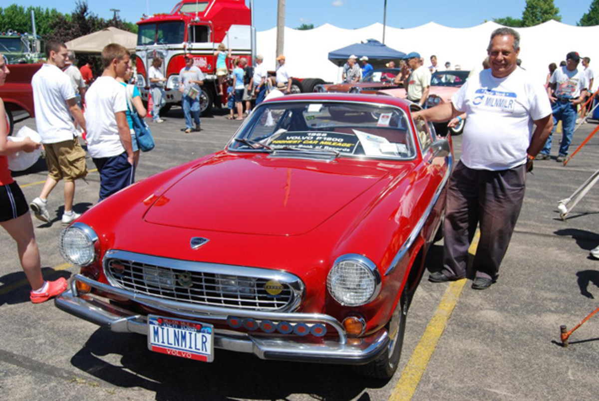 The multi-million-mile Volvo P1800 at the Iola Old Car Show in 2009.