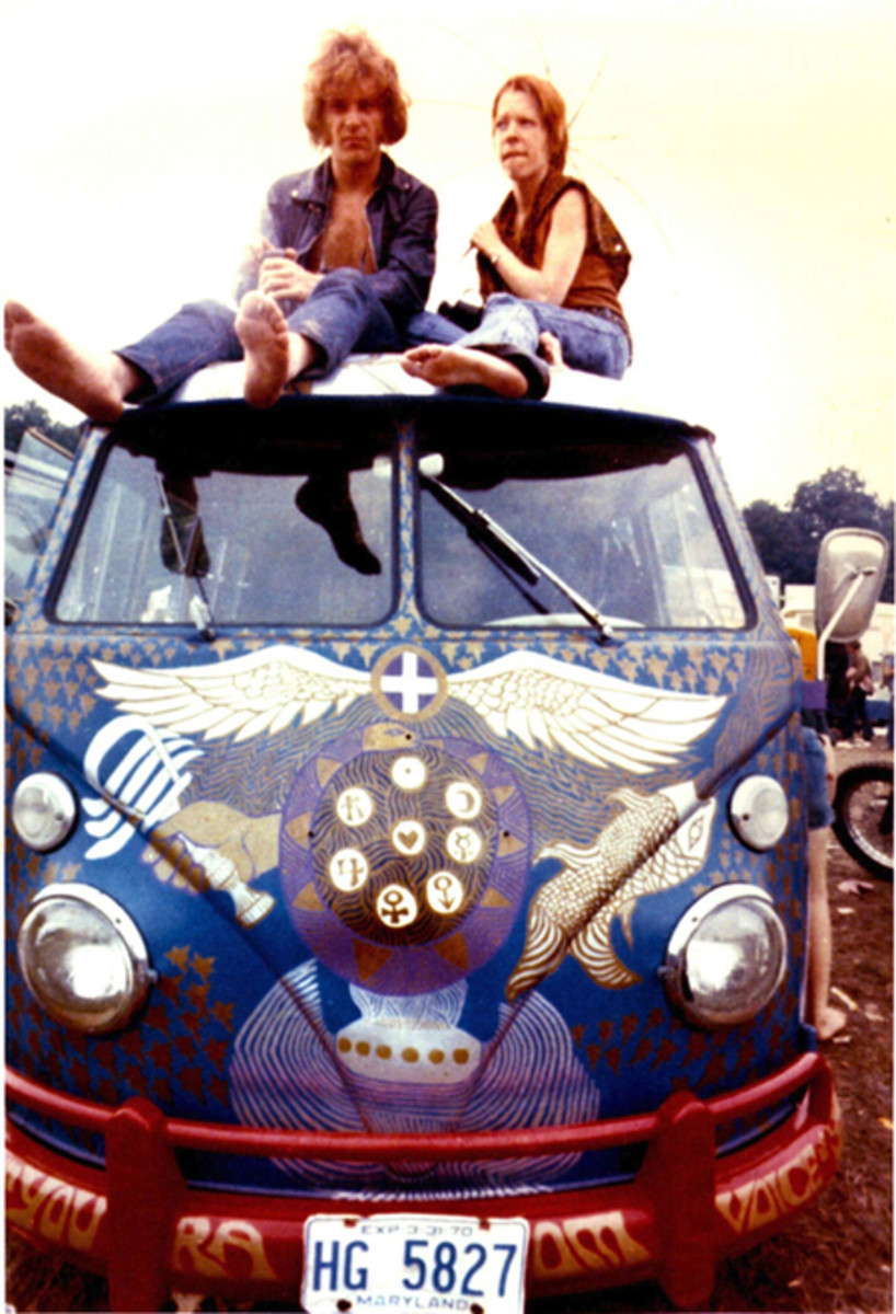 LIGHT Bus at Woodstock, August 1969. Photo credit: Associated Press C/O AACA Museum, Inc.