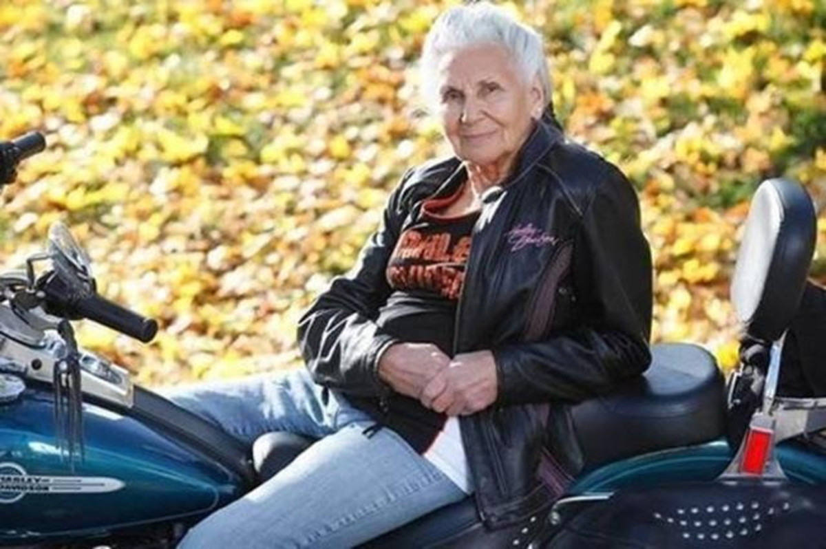 Vintage Rally guest and Hall of Famer Gloria Tramontin Struck, still riding at 92 years of age, recently authored her memoirs. Gloria will talk about the great people she's met through motorcycling and do a book signing.
