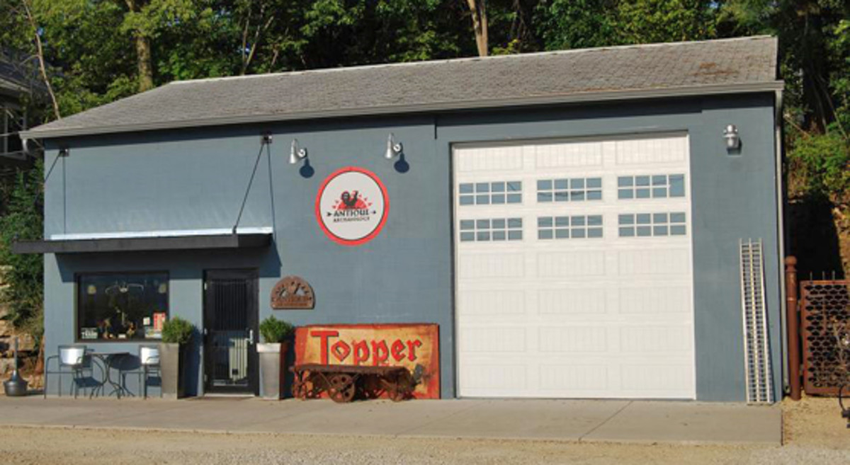 """This is the """"American Pickers"""" headquarters in LeClaire, Iowa. I never watched the show; I went there on my way to the Davenport motorcycle show..."""
