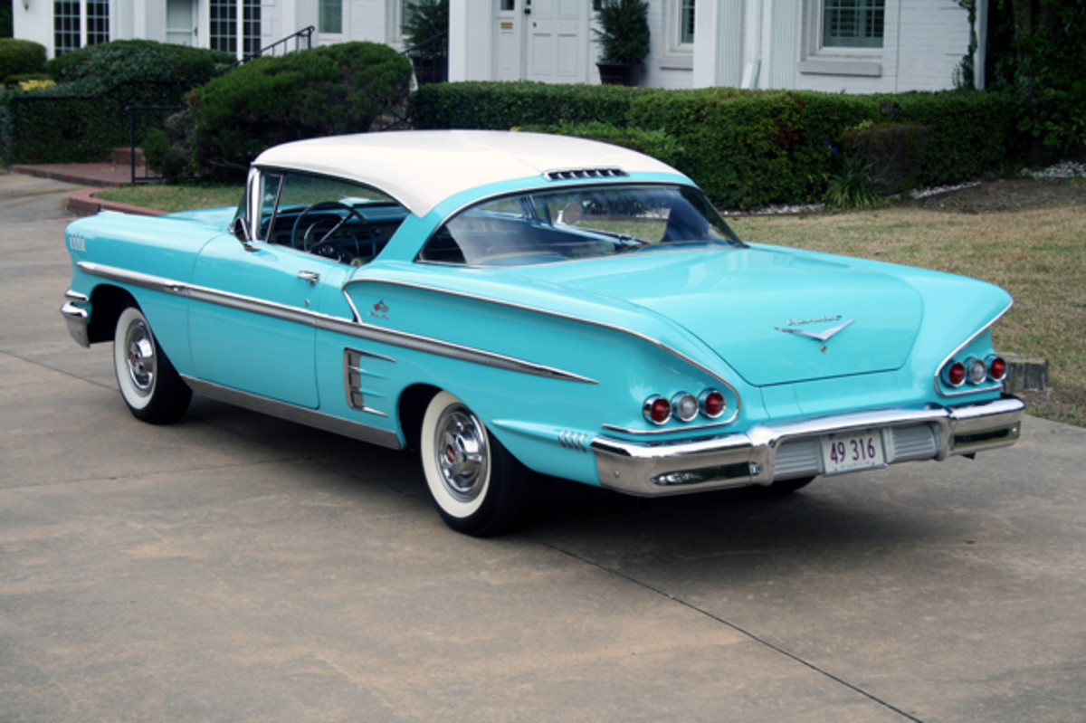 Chevy's Impala, new for 1958, displaced the Bel Air at the top of the hierarchy though technically it was a sub-series of the Bel Air line.