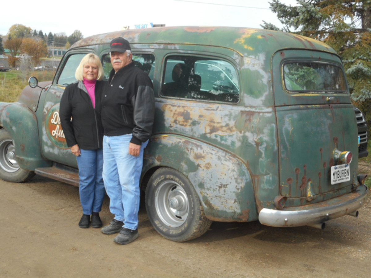 When they're not driving their finished Merc, Dick and Nancy Sundhagen drive this Chevy Suburban to many local cruises.