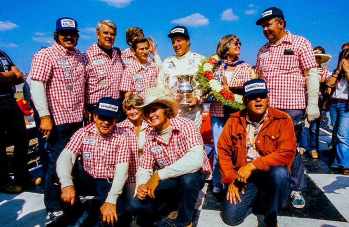 """Kalamazoo-based Jim Gilmore Enterprises first sponsored Hastings, MI native Gordon Johncock at the Indy 500 in 1967 and added A.J. Foyt to the team in 1973. Jim Gilmore, Jr. described Foyt's unrivaled fourth win in 1977 """"as the biggest thrill in my life!"""""""