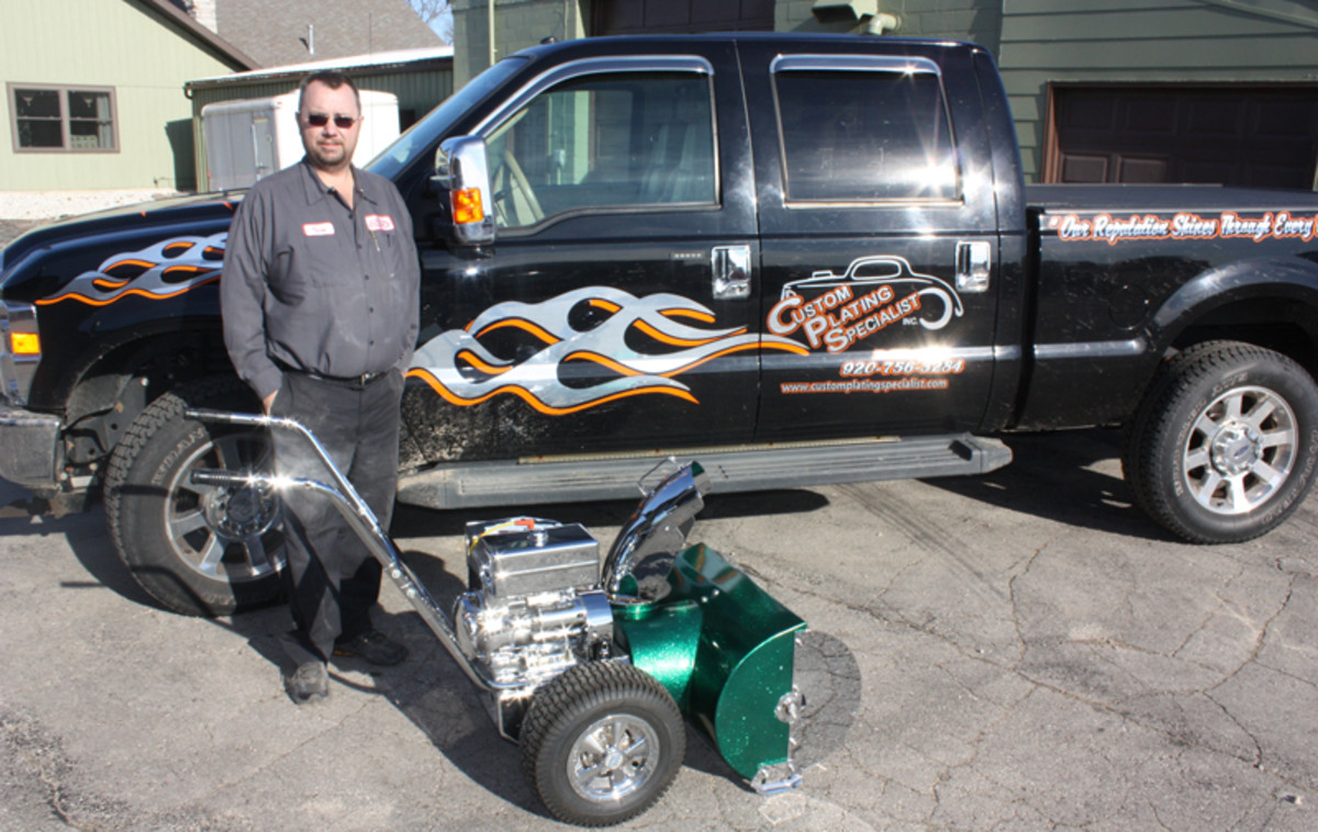 Terry Meetz has been in the chrome plating business for 30 years, running Chrome Plating Specialists in rural Brillion, Wis.