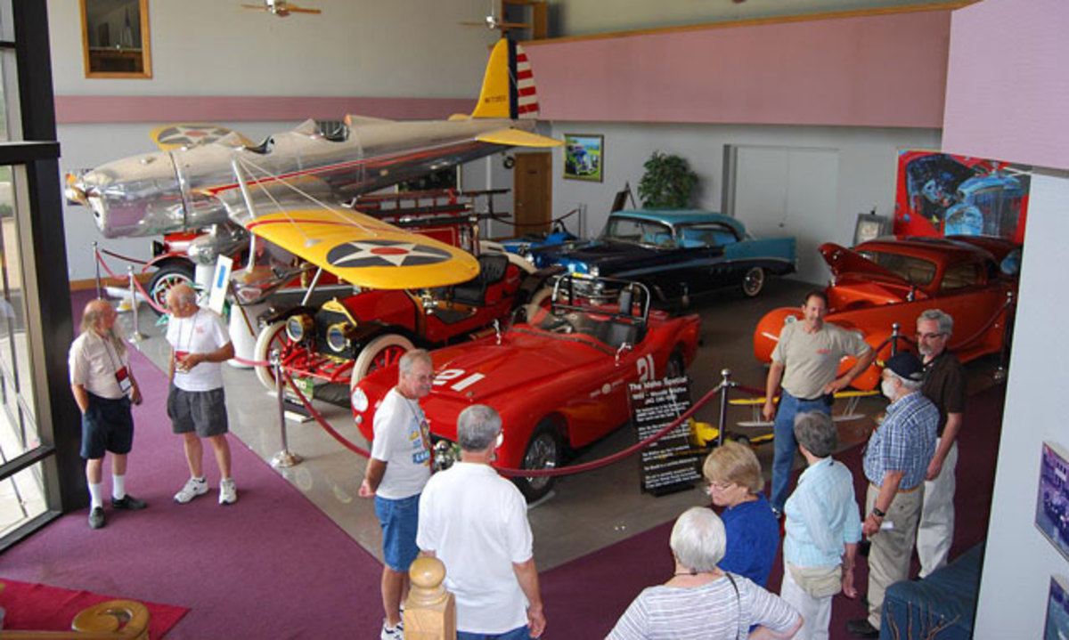 Members of the All American Oakland club (jumbodog54@sbcglobal.net) toured the Larry Smith car collection in Wichita, Kansas last summer.