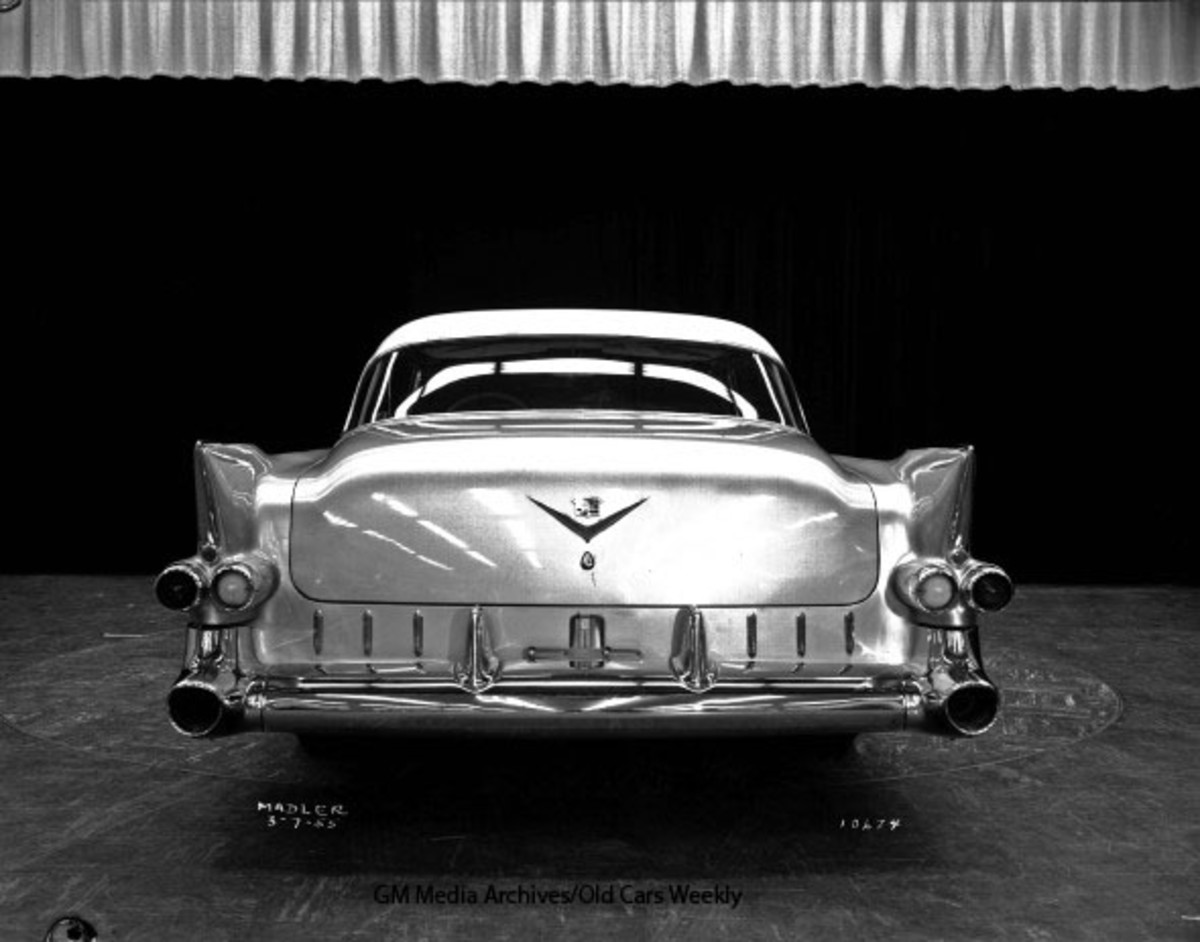 Factory photo of the 1955 Eldorado two-door hardtop. (GM Media Archives image)