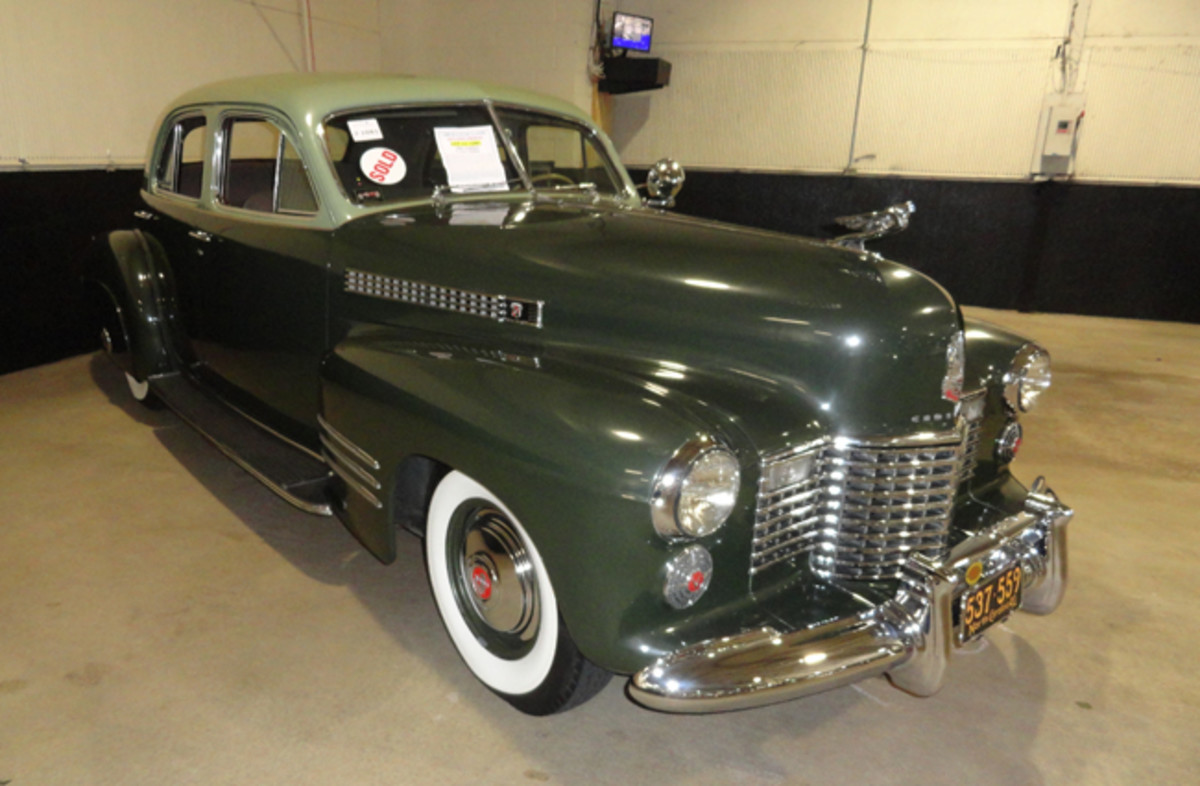 A 1941 Cadillac in green sold for $34,500