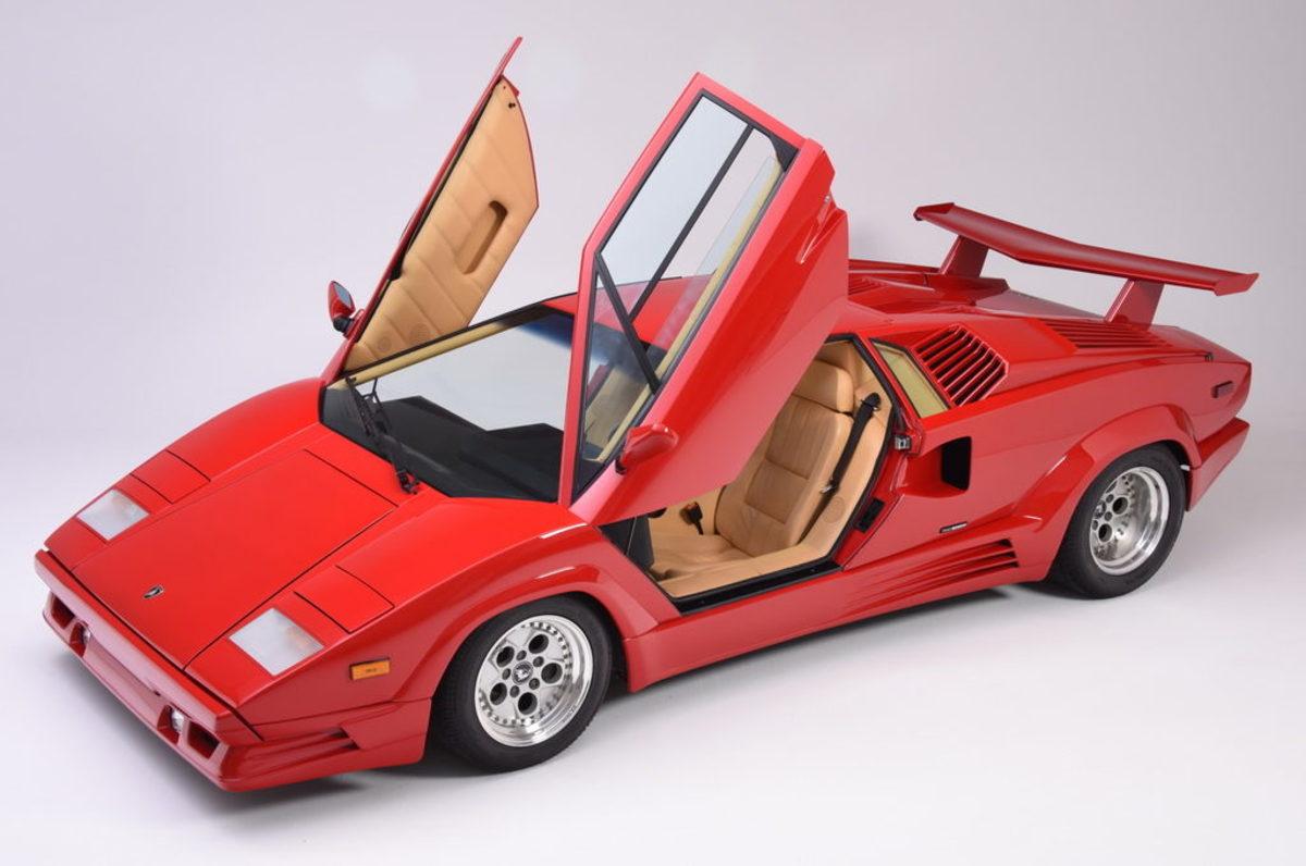 The new Newport Car Museum's 1989 Lamborghini Countach.