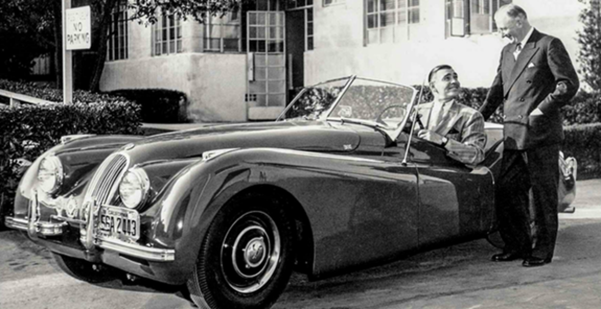 """Clark Gable told Jaguar Chief William Lyons he wanted the XK120 """". . . like a child wants candy.""""Photo courtesy of Jaguar Land Rover Limited"""