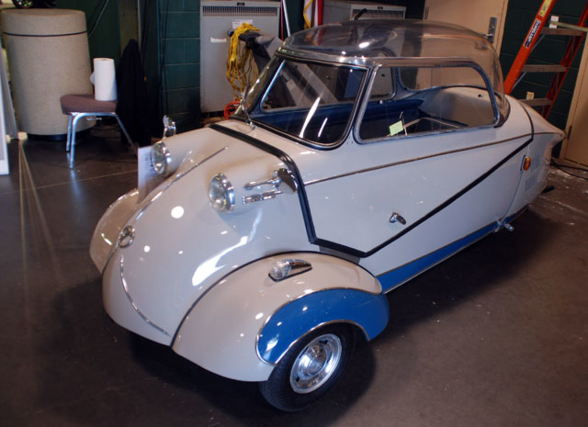 his sharp little 1955 Messerschmitt was called sold for a bid of $31,000, somewhat of a margin.