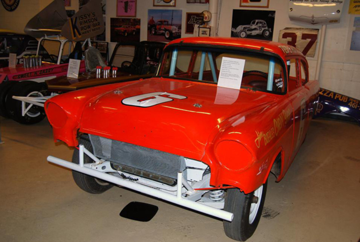 This '55 Chevy Sportsman racer is a new addition in the museum.