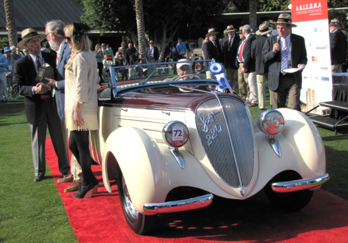A 1938 Steyr 220 roadster was picked as Most Elegant Pre-War.