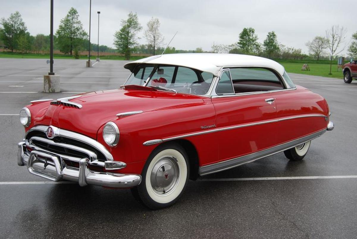 If you drive your car to the Hudson Museum www.hostetlershudsons.com you might get to see this bright red Hudson Hornet Hollywood hardtop.