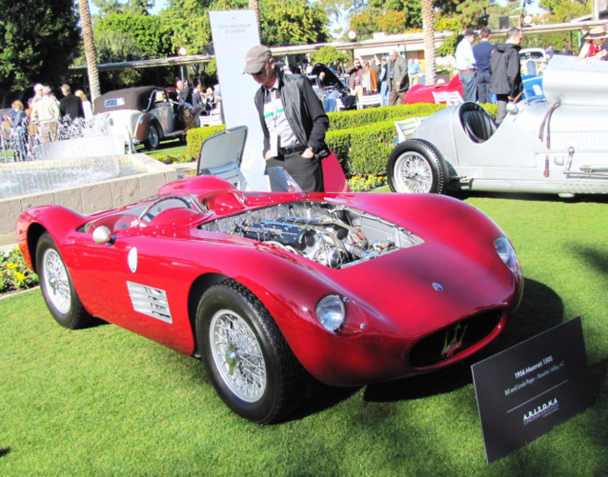 This 1956 Maserati 150S was part of the honored marque display of Maseratis.