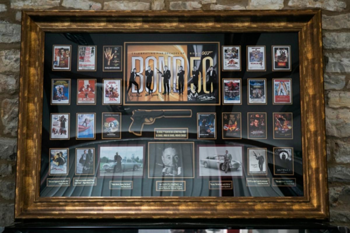 Rare piece of James Bond wall art. Photo - Silverstone Auctions