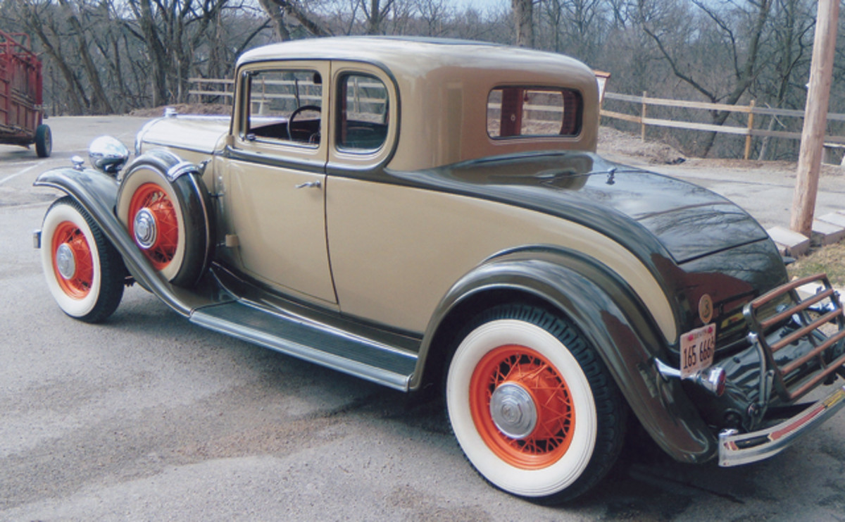 The first car Len Anderson drove was this 1932 Buick Series 90 coupe; he recently purchased it from his best friend's uncle 55 years after that drive.