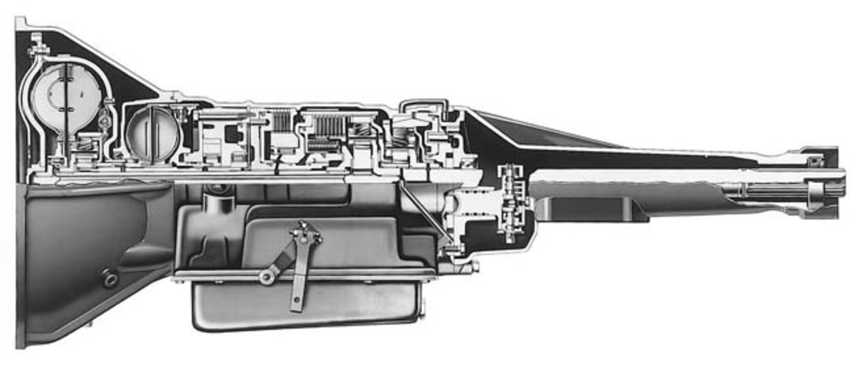This 1956 Cadillac Hydra-Matic automatic transmission willoperate on the new Dexron-IV ATF.