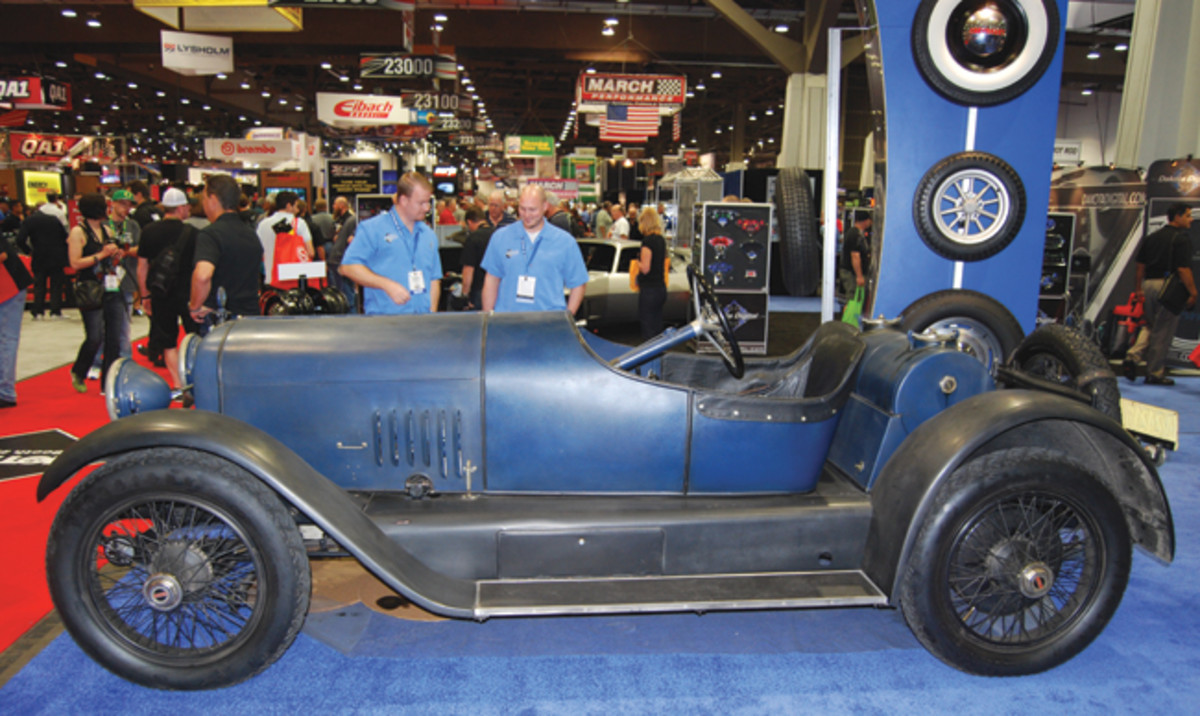 Corky Coker's Mercer roadster was built to look unrestored according to one source we spoke to at this year's SEMA Show. If so, it was sure hard to believe is wasn't a barn find.