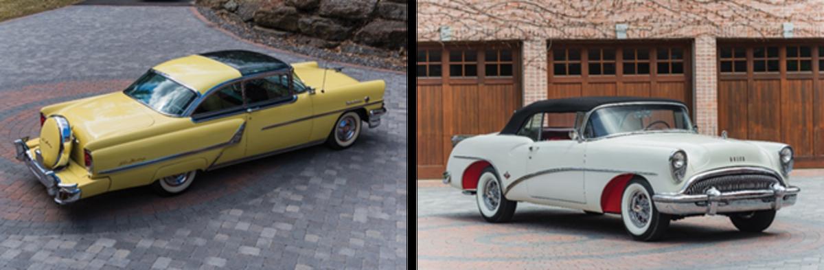 1955 Mercury Montclair Sun Valley (Courtesy of RM Auctions) & 1954 Buick Skylark (Courtesy of RM Auctions)