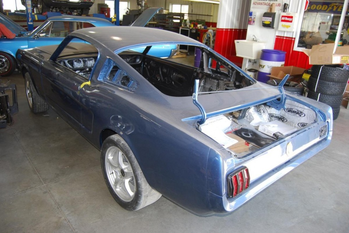 This Ringbrothers Mustang project sports new blue paint.
