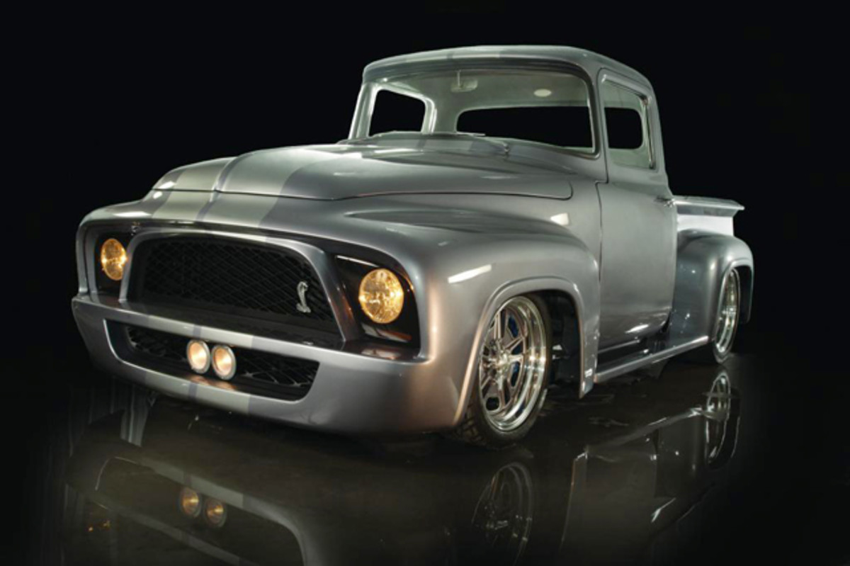 """1956 Ford F100 """"Snakebit."""" Photo courtesy Wheels of Dreams."""