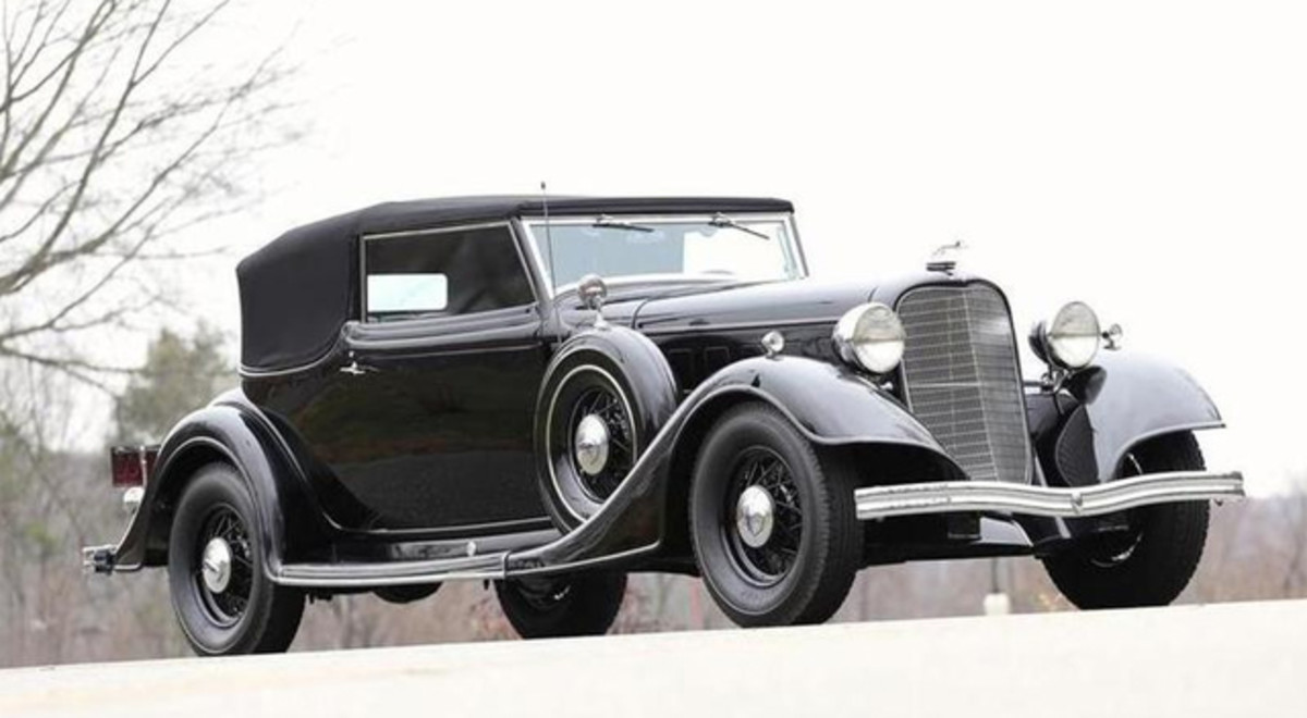 This 1934 Lincoln KB with Brunn convertible victoria coachwork will be offered by Bonhams.