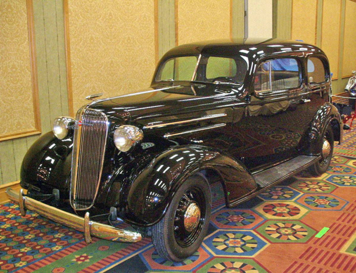 A restoration shop brought this '36 Chevy touring sedan to Race & Performance Expo last year.